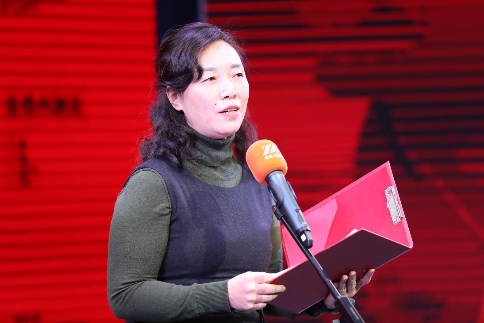 郑州市委宣传部副部长王丽艳致辞并朗诵剧本片段